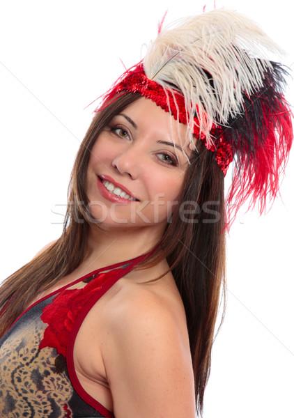 Mooie vrouw decoratief tanden danser glimlachend Stockfoto © lovleah