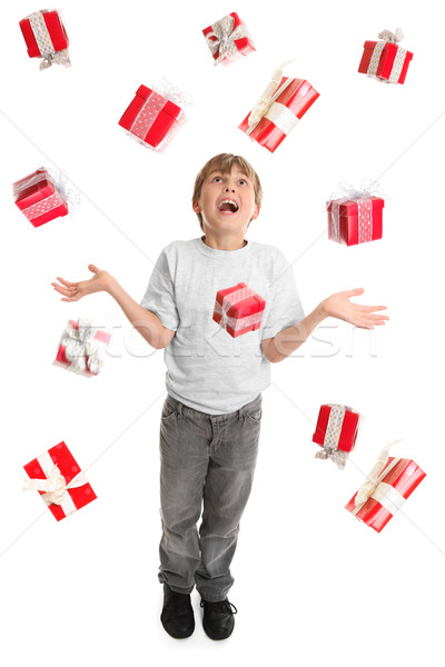 Criança temor abundância presentes em torno de como Foto stock © lovleah