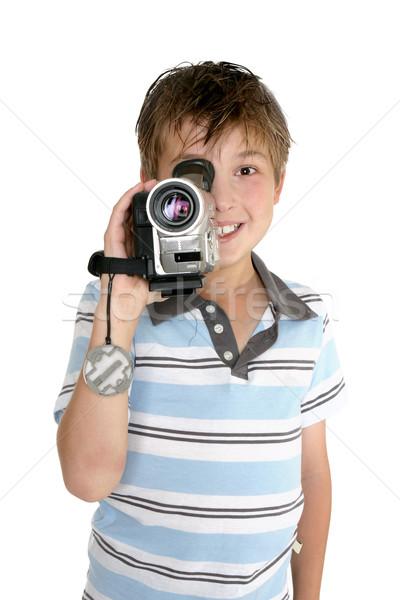 Videó gyermek elvesz filmfelvétel digitális videókamera Stock fotó © lovleah