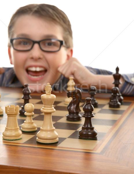 Vincitore scacchi giocatore tattico vincere scacco matto Foto d'archivio © lovleah