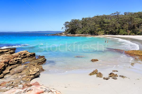 красивой пляжей пляж направления идеальный синий Сток-фото © lovleah