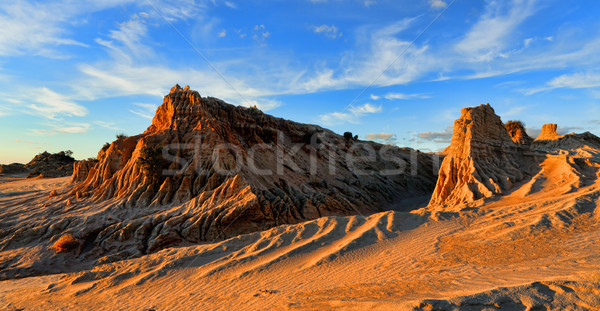 rocky landforms in the outback desert Stock photo © lovleah