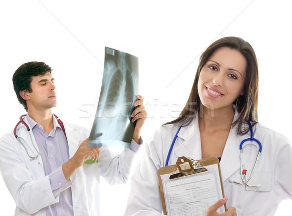 Friendly caring medical health doctors Stock photo © lovleah