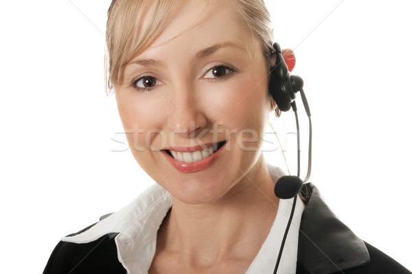 Female businesswoman customer service or telesales Stock photo © lovleah