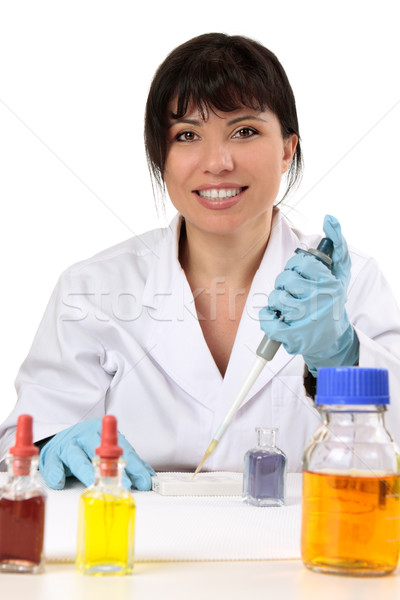 Friendly scientist, researcher, medical technician Stock photo © lovleah