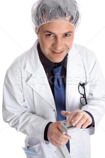 Stok fotoğraf: Tıbbi · doktor · bilim · adamı · elektronik · araştırmacı · programlama