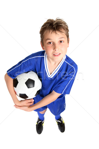 Boy with soccer ball Stock photo © lovleah