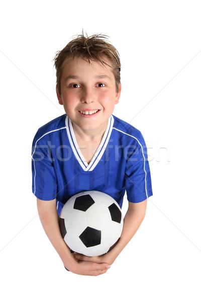 Ragazzo soccer ball calcio uniforme Foto d'archivio © lovleah