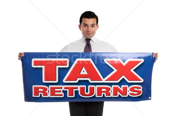 человека налоговых знак бизнесмен бухгалтер Сток-фото © lovleah