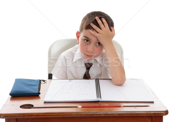 Schoolboy problems learning difficulties Stock photo © lovleah