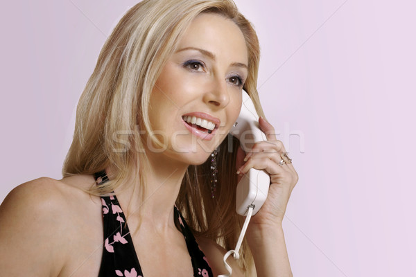 笑みを浮かべて 女性 ハロー アロハ 美人 挨拶 ストックフォト © lovleah