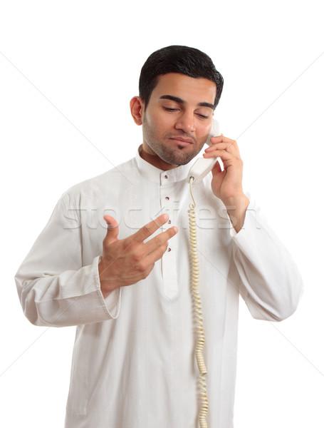 Közel-keleti arab üzletember telefon üzletember visel Stock fotó © lovleah