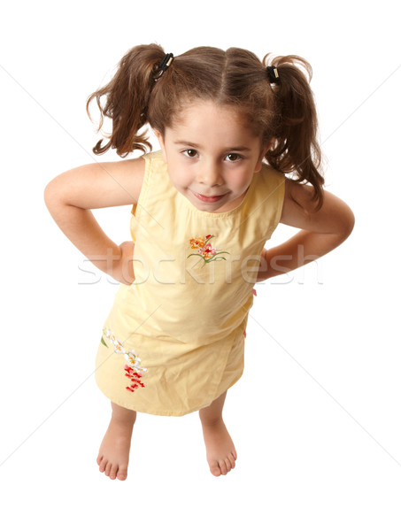 Little girl with attitide hands on hips Stock photo © lovleah