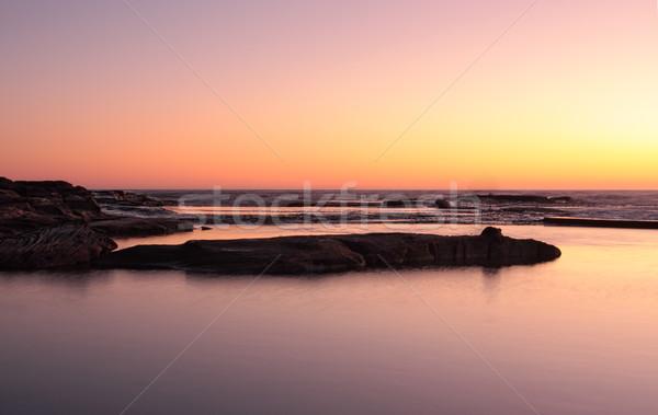 Stralucire razele culoare cer răsărit Imagine de stoc © lovleah