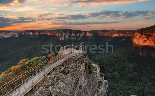 Blue Mountains Lookout Pulpit Rock Stock photo © lovleah