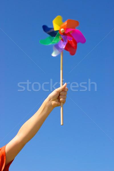 Spinning Windmill Pinwheel Stock photo © lovleah