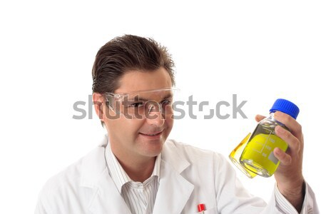 Scientist with lab bottles Stock photo © lovleah