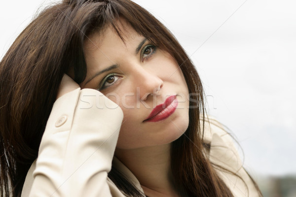 Stock photo: Daydreaming woman