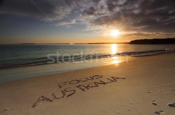 Enfoque Australia playa madrugada sol agua Foto stock © lovleah