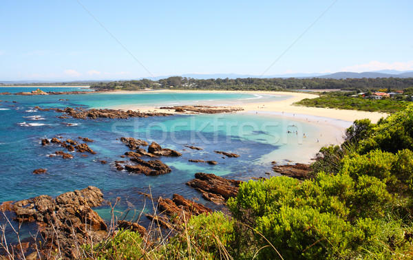 Holiday makers enjoy the beautiful beaches of Australia Stock photo © lovleah