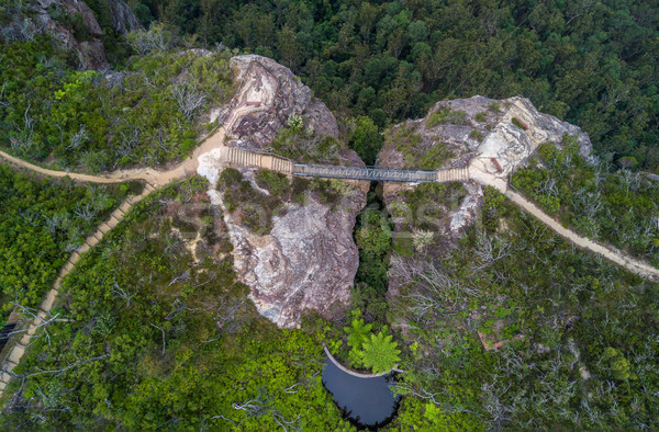 моста два ходьбы синий гор Сток-фото © lovleah