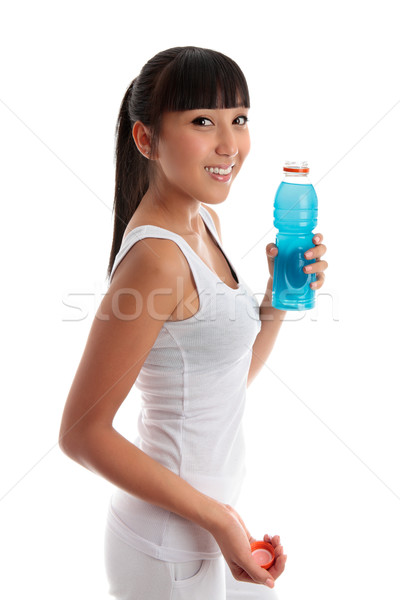 Fit healthy girl with drink Stock photo © lovleah