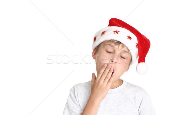 Сток-фото: зевать · устал · мальчика · Hat