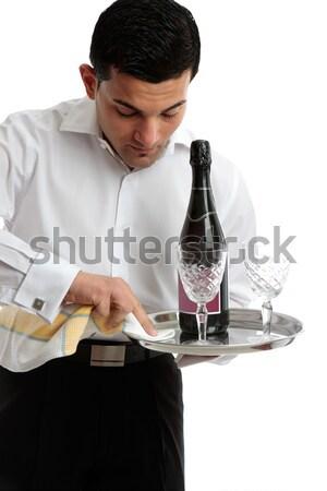 Waiter or bartender at work Stock photo © lovleah