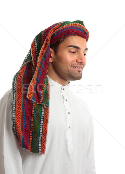 Mosolyog fiatal arab férfi felnőtt közel-keleti Stock fotó © lovleah