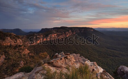 Narrowneck Sunset Blue Mountains Stock photo © lovleah