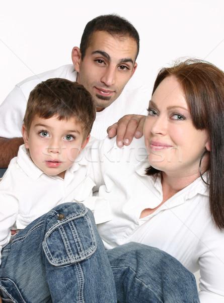 Сток-фото: семьи · сидят · вместе · ребенка
