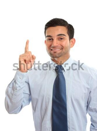 üzletember legelső mutat ujj első ötlet Stock fotó © lovleah