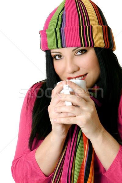 Güzel kadın kış rahat kadın Stok fotoğraf © lovleah