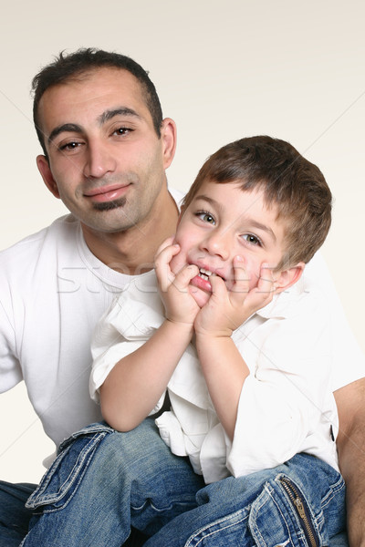 父 座って 幸せ 子 父から息子 一緒に ストックフォト © lovleah