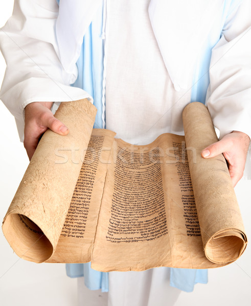 Bible scroll on gevil parchment Stock photo © lovleah