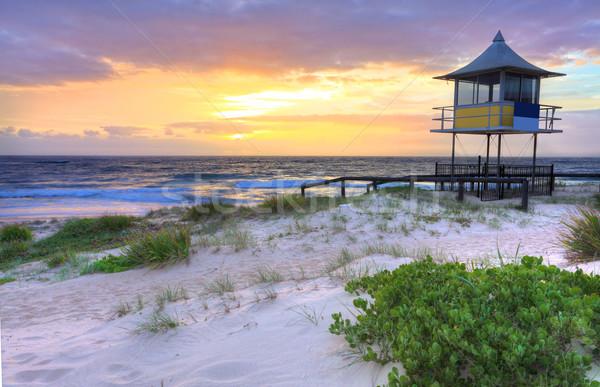 Gündoğumu giriş Avustralya güzel merkezi sahil Stok fotoğraf © lovleah