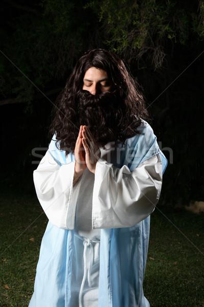 Adam kostüm dua eden peygamber İsa Stok fotoğraf © lovleah