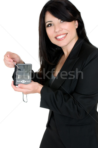 Business woman demonstrating electonic device product Stock photo © lovleah