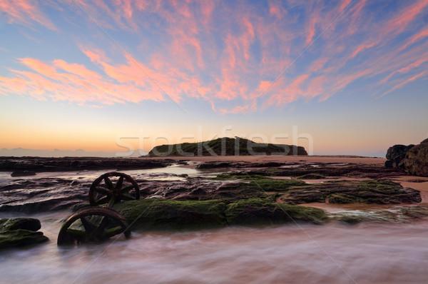 Sunrise skies over Windang Island Stock photo © lovleah