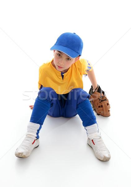 Young boy baseball t-ball player Stock photo © lovleah
