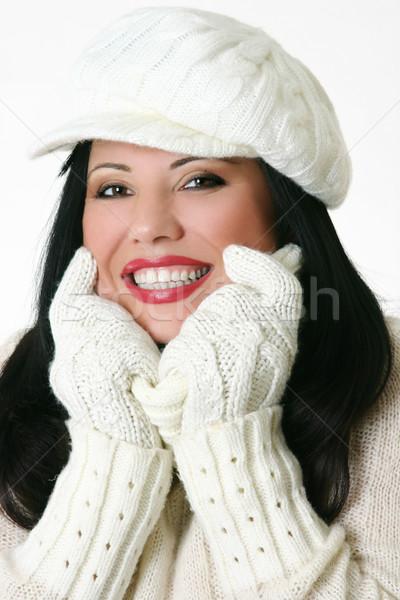 Female in big cosy jumper Stock photo © lovleah