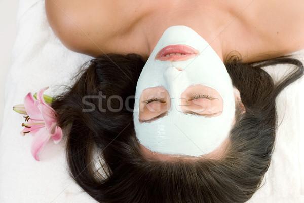 Nő maszk pihen arc nők szépség Stock fotó © lovleah