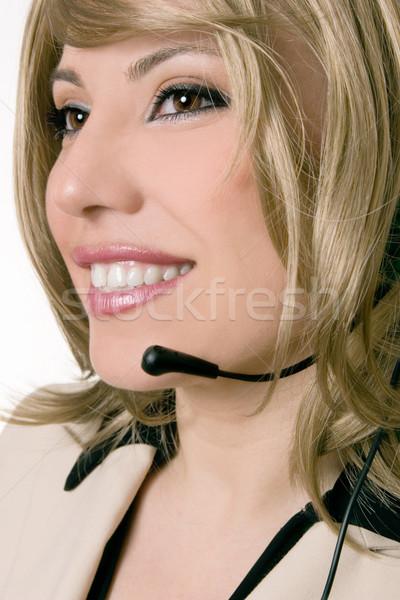 Female customer service Stock photo © lovleah
