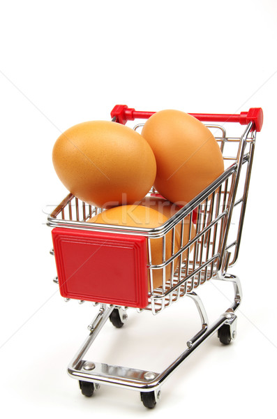 eggs in a shopping trolley Stock photo © luapvision