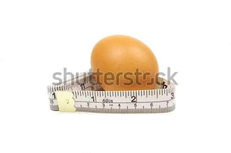 Yumurta kahverengi beyaz gıda uygunluk Stok fotoğraf © luapvision