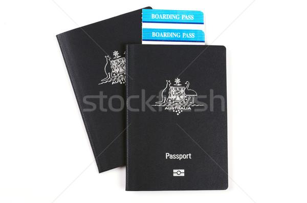 Australiano embarque tarjetas viaje billete blanco Foto stock © luapvision