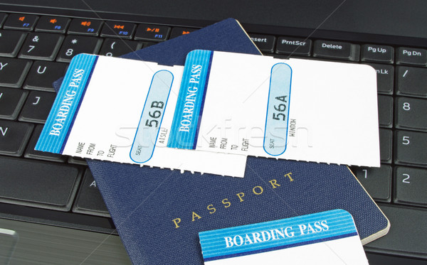 passport and boarding cards Stock photo © luapvision