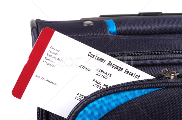 baggage receipt and travel bag  Stock photo © luapvision
