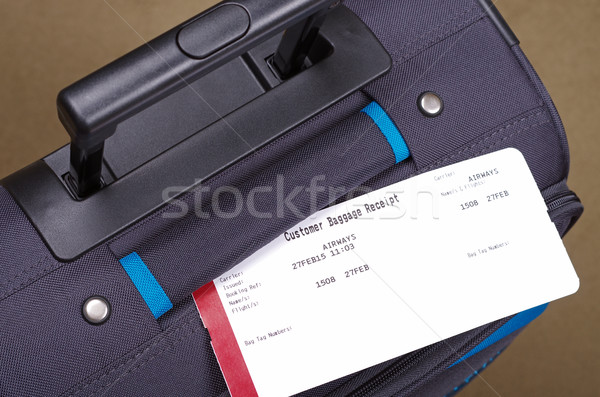 airline luggage tag and bag  Stock photo © luapvision