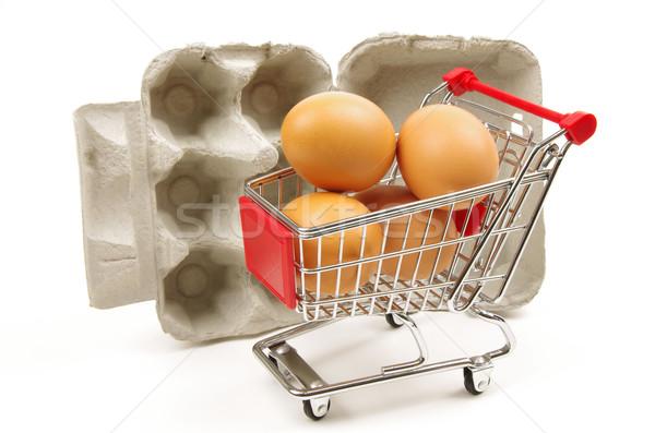 Yumurta kutu boş yumurta kahverengi Stok fotoğraf © luapvision